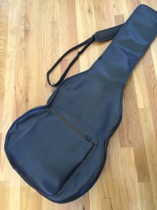 Rebbie's ancient guitar case
